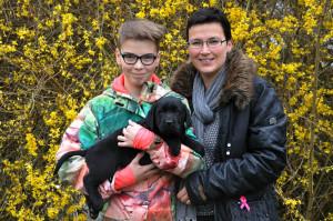 Zwart labradorreutje pup